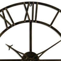 Large Antique Brass Industrial Style Metal Skeleton Wall Clock (H20433) 80cm